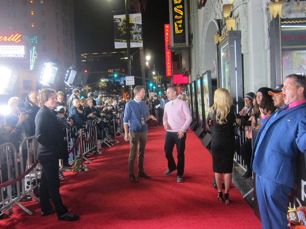 Los angeles movie premiere red carpet
