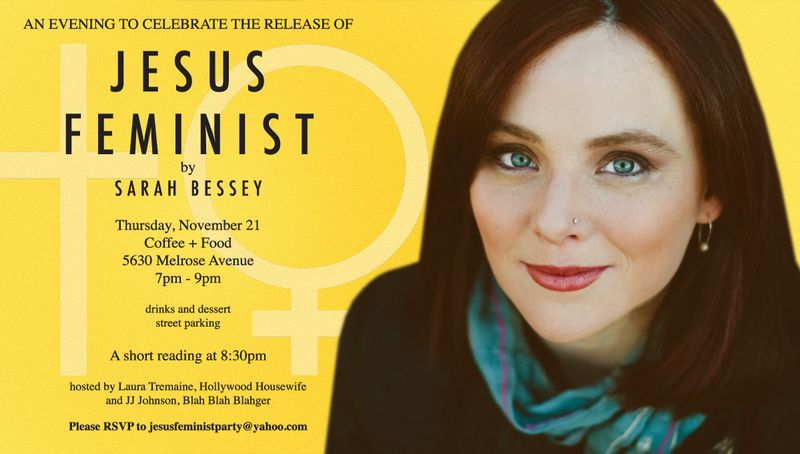 JESUS FEMINIST party invitation