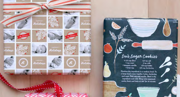 Minted custom wrapping paper
