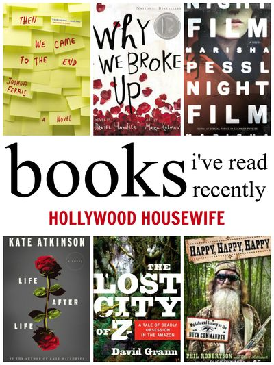 6 books I've read recently | hollywood housewife