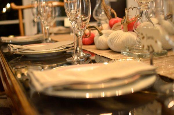 Christmas eve dinner plates