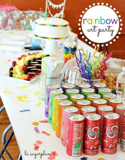 Rainbow art party by hi sugarplum