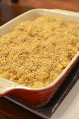 Christmas eve cut mac n' cheese