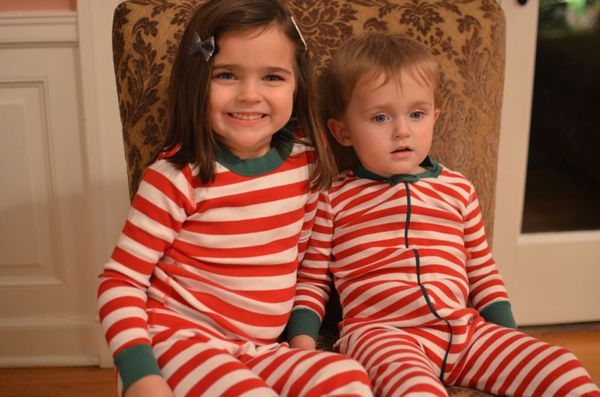 Christmas eve kids in jammies