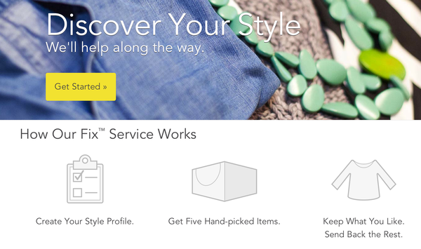 Stitch fix welcome screen