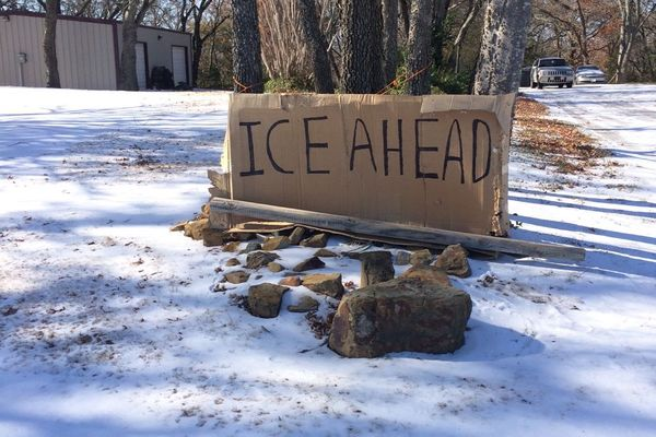 Oklahoma ice ahead