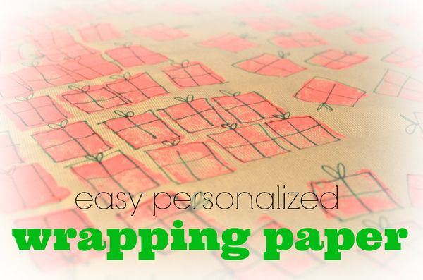 Easy personalized wrapping paper using what you've already got | hollywood housewife