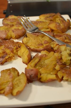 Christmas eve smash potatoes