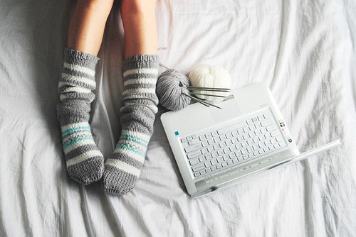 Wool socks laptop