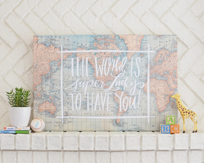 Lindsay letters the world is lucky to have you canvas