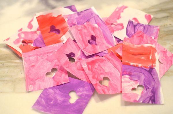 Pile of handmade valentines