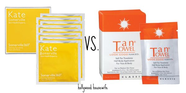 Kate somerville tanning towels vs. tan towel | hollywood housewife
