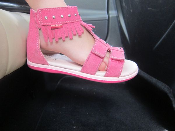 Pediped pink sandals