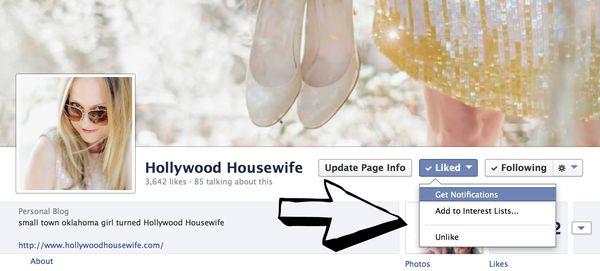 HH facebook notifications