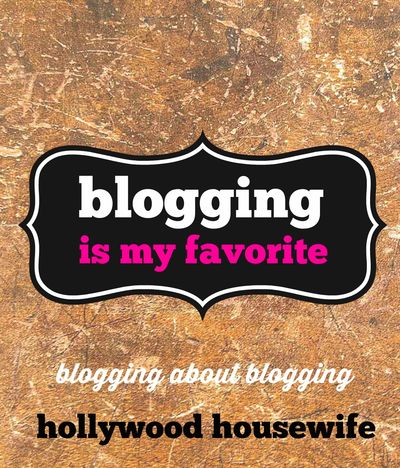 Blogging is my favorite