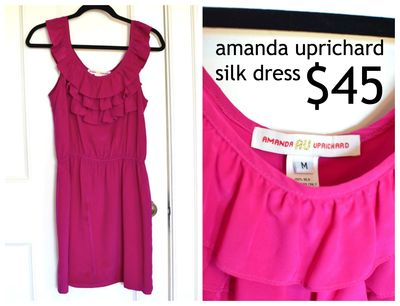GS4O2 sale - amanda uprichard silk dress
