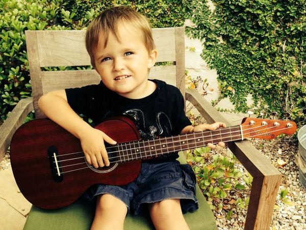Pirate playing guitar