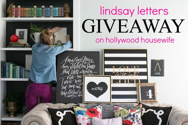 Lindsay letters giveaway