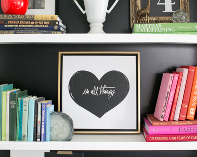 Lindsay letters in all things heart canvas
