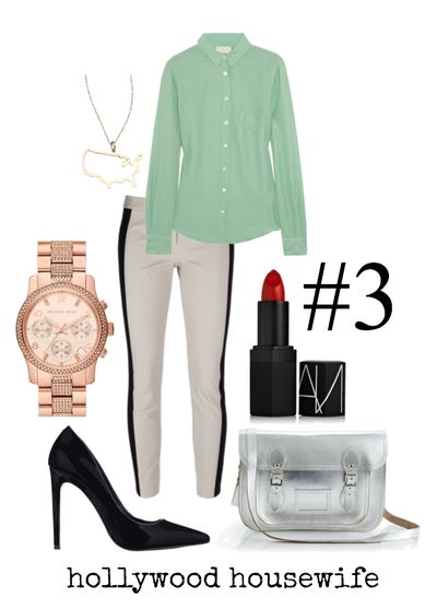Work at home mom outfit #3 - hollywood housewife