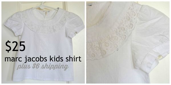 GS4O sale - marc jacobs kids shirt