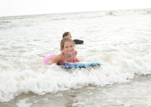 CA boogie boarding