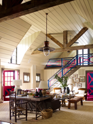 Steven Gambrel pink barn project