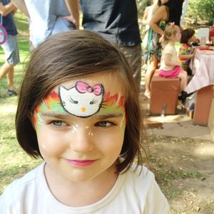 Pigtail face paint
