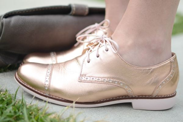 Metallic oxfords for spring