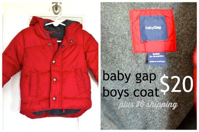 GS4O sale - baby gap boys coat