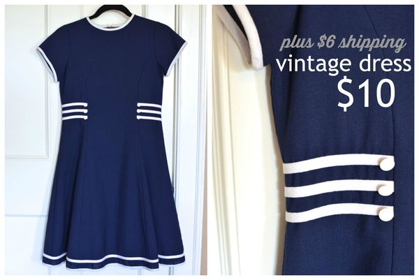 GS4O2 sale - vintage blue and white dress