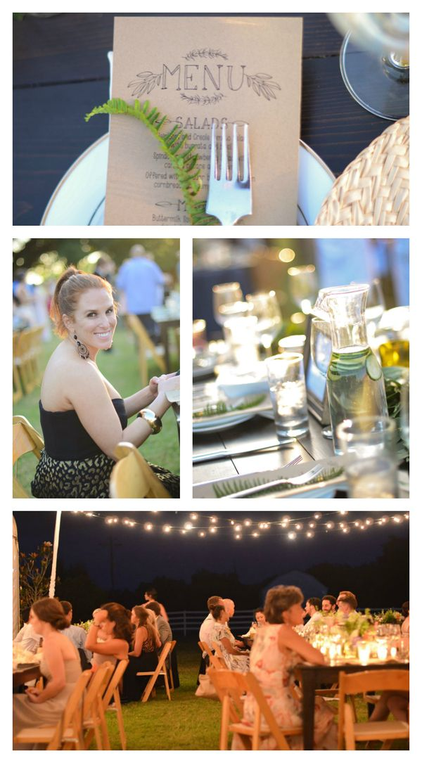 New Orleans wedding dinner details