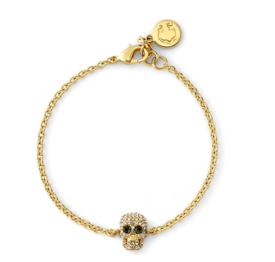 Delicate skull bracelet