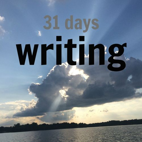 31 days writing