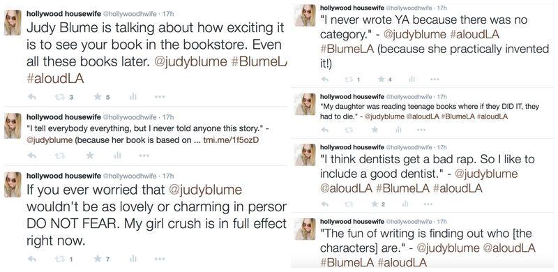 Judy Blume LA tweets 2