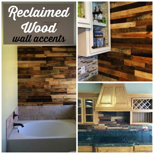 Reclaimed wood wall accents