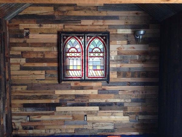 Reclaim 405 wall with stained glass windows