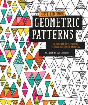 Lisa congdon geometric patterns adult coloring book