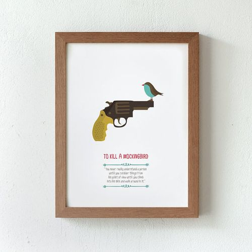 TKaM gun and bird print