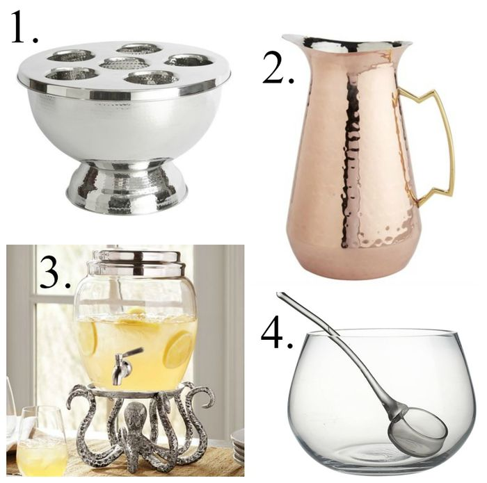 Serving pieces and entertaining tools for the hostess