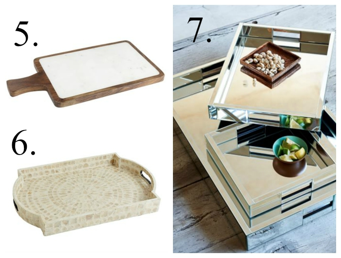 Serving trays and entertaining pieces for the hostess
