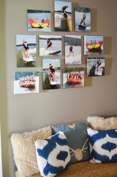 Printing photos on metal mpix wall arrangement