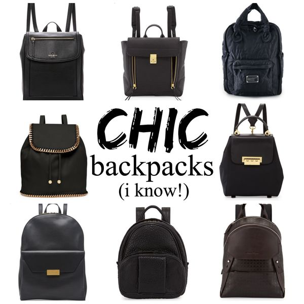 Chic designer backpacks