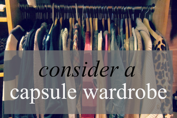 Consider a capsule wardrobe | hollywood housewife