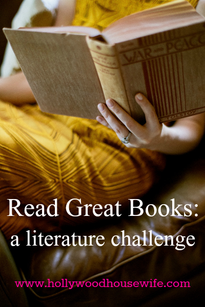 Read Great Books | A literature challenge from Hollywood Housewife