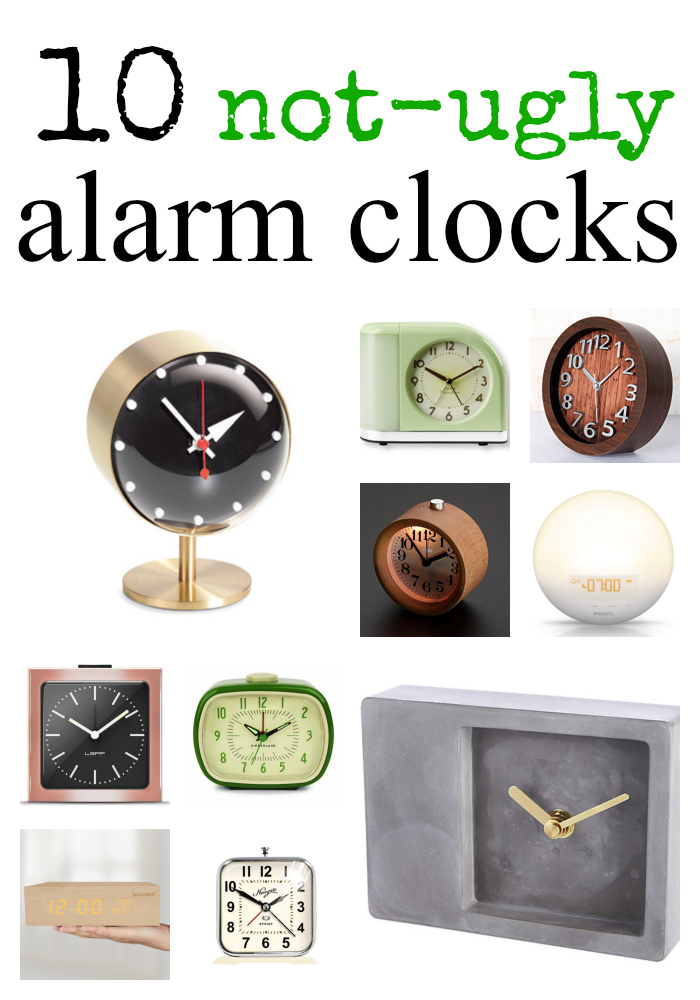 10 not-ugly alarm clocks