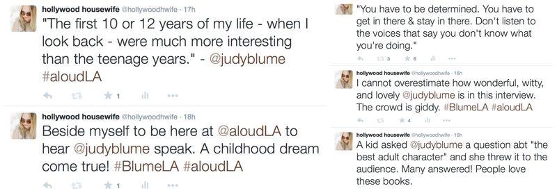 Judy Blume LA tweets 1
