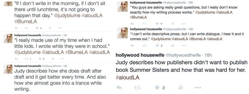 Judy Blume LA tweets 3