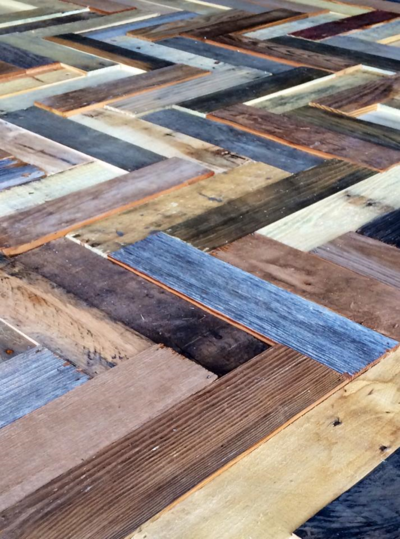 Reclaimed wood pattern