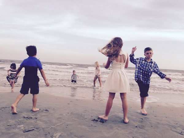 Beach playing